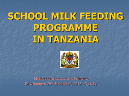 THE LIVESTOCK POLICY ON DEVELOPMENT OF THE DAIRY