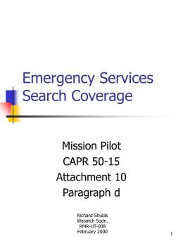 Emergency Services Electronic Searches - 7