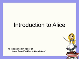 Introduction to Alice