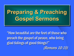 Preparing Gospel Sermons