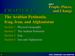 Chapter 17 Arabian Peninsula, Iran, Iraq