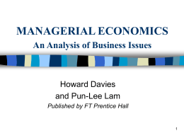 Economics and Business Strategy