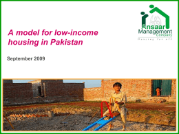 A model for low-income housing in Pakistan - NHB