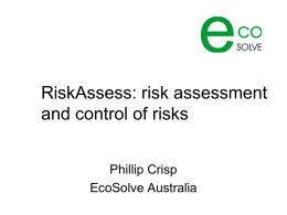 RiskAssess: risk assessment and control of risks
