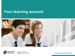 Your Learning Account (QSA)