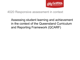 Responsive assessment in context: 4020EBL