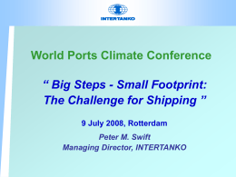 Big Steps - Small Footprint:The Challenge for Shipping