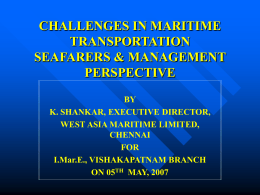 challenges in maritime transportation seafarers