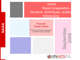 NASA Report Structure