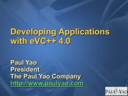 Developing Applications with eVC++ 4.0