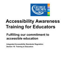 Accessible Education - George Brown College