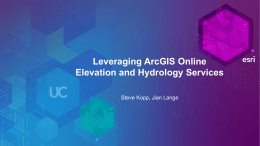 Using Elevation Analysis services in ArcGIS for Desktop