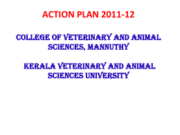 action plan 2011-12 - Kerala Veterinary and Animal Sciences