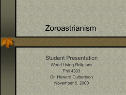 Major Tenets of Zoroastrianism