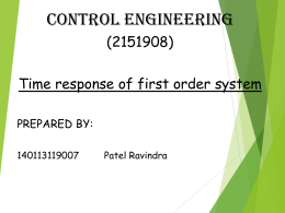 Time response of first order system