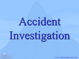Summit Accident Investigation
