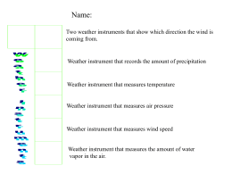 weather instruments - Riverside Primary School