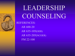 leadership counseling