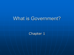 Chapter 1 U.S. Government