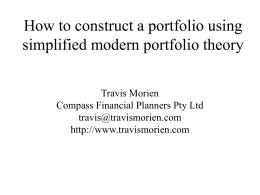 How to construct a portfolio using simplified modern portfolio theory