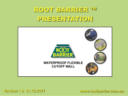 Root Barrier Installation Presentation