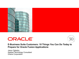 EBS: 10 Things You Can Do Today to Prepare for Oracle Fusion