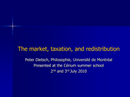 The market, taxation, and redistribution