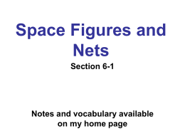 Space Figures and Nets