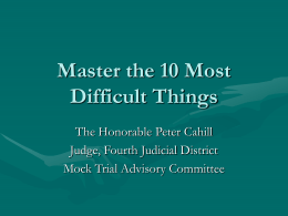 Master the 10 Most Difficult Things