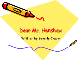 Dear Mr. Henshaw - readingrocks5thgrade