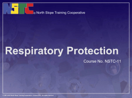 Respiratory Protection - North Slope Training Cooperative