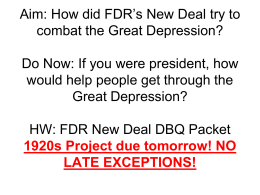 63. President Fdr and New deal
