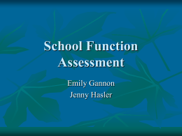 School Function Assessment