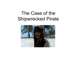 Lab #4: The Case of the Shipwrecked Sailor