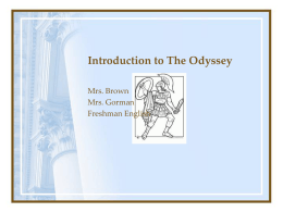 The Odyssey Unit Test - Sacred Heart Academy