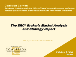 Real Estate Coalition Update and Action Plan