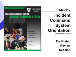 ICS 100 - Incident Command System I-100