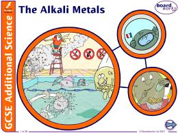 The Alkali Metals File