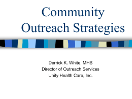 Community Outreach Strategies