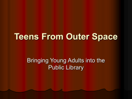 Creating a Teen Space @ Corinth