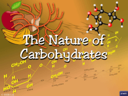 1.the nature of carbohydrates