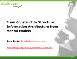 From Construct to Structure