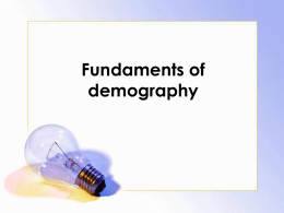 Fundaments of demography