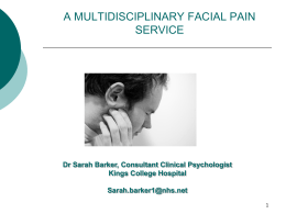 Idiopathic facial pain - King`s College London