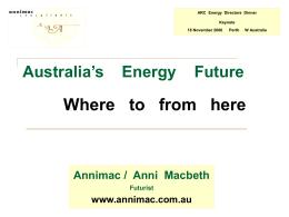 ARC Energy Directors Dinner Keynote