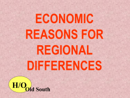 Regional Differences to 1860 Review PPT