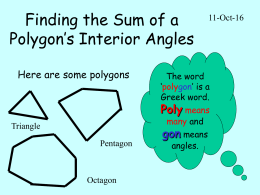 Finding the Sum of a Polygon`s Interior Angles
