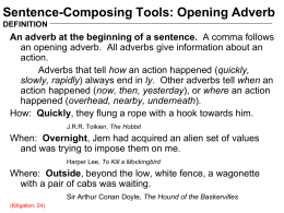 Opening Adverb