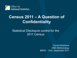 Census 2011: A question of confidentiality