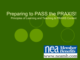 Praxis - Utah Education Association